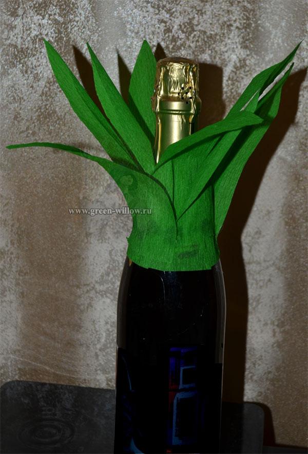 ананас из бутылки с шампанским